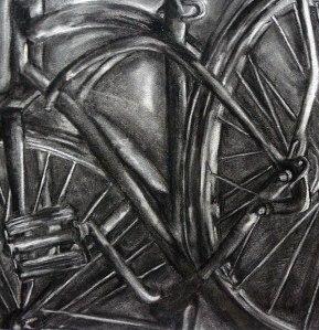 I'd Like a Bike, 16 x 20, Charcoal